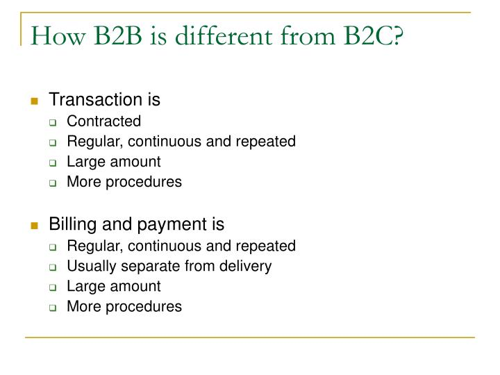 How B2B is different from B2C?