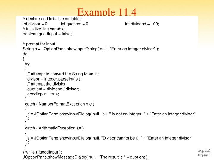 Example 11.4