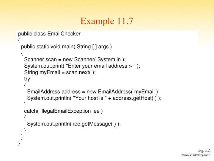 Example 11.7