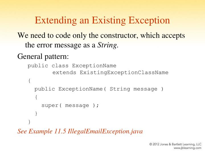 Extending an Existing Exception