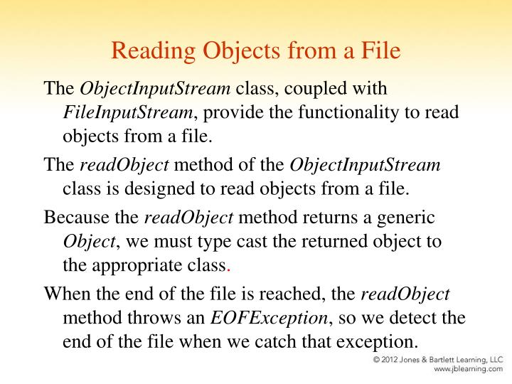 Reading Objects from a File