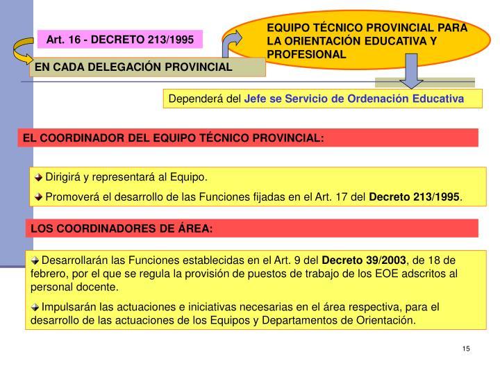 EQUIPO TÉCNICO PROVINCIAL PARA LA ORIENTACIÓN EDUCATIVA Y PROFESIONAL