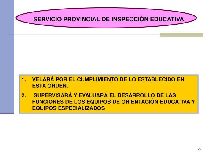 SERVICIO PROVINCIAL DE INSPECCIÓN EDUCATIVA