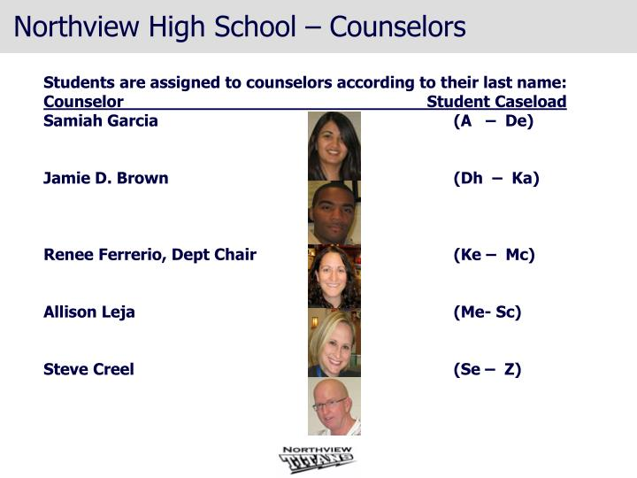 Northview high school counselors