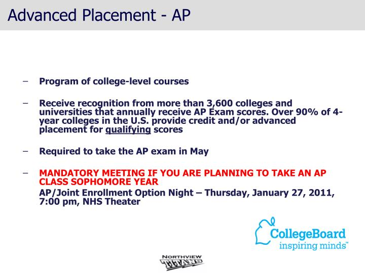 Advanced Placement - AP