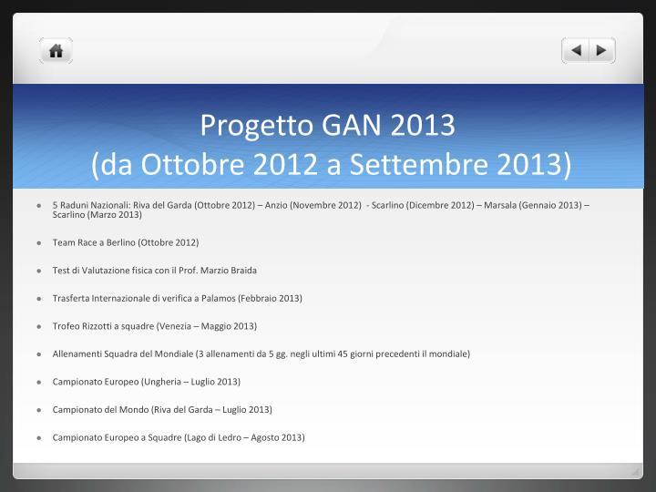 Progetto GAN 2013