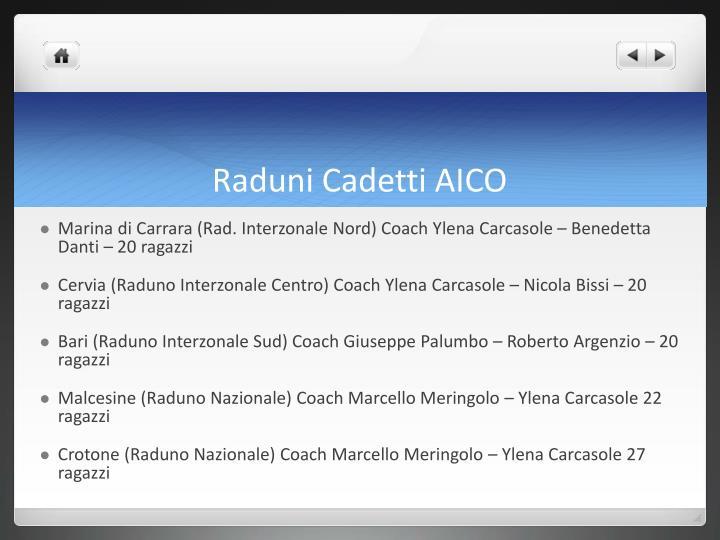 Raduni Cadetti AICO