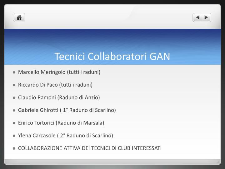 Tecnici Collaboratori GAN