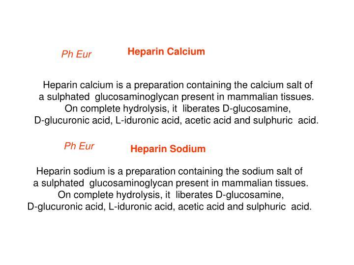 Heparin Calcium