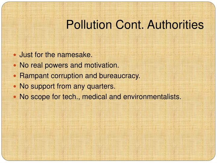 Pollution Cont. Authorities