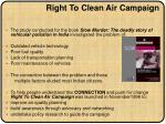right to clean air campaign1