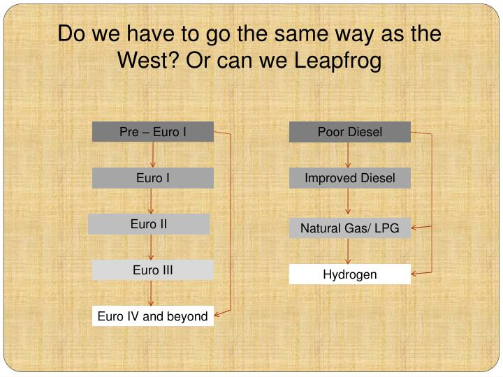 Do we have to go the same way as the West? Or can we Leapfrog