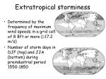 extratropical storminess