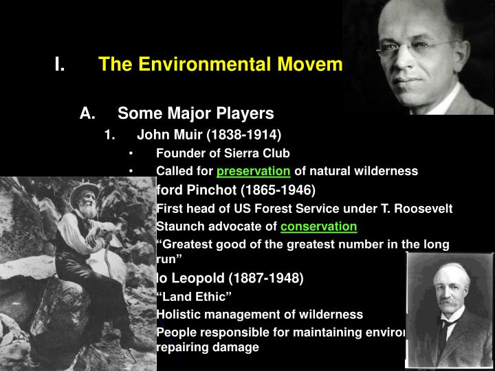 The Environmental Movement in the US