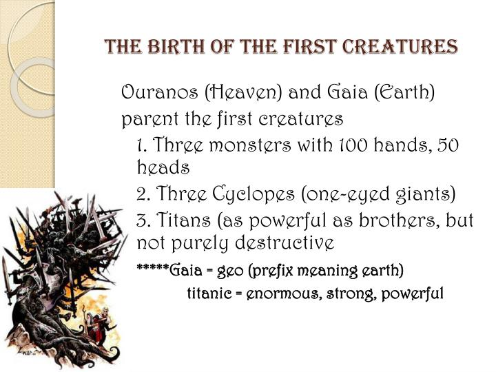 The birth of the first creatures