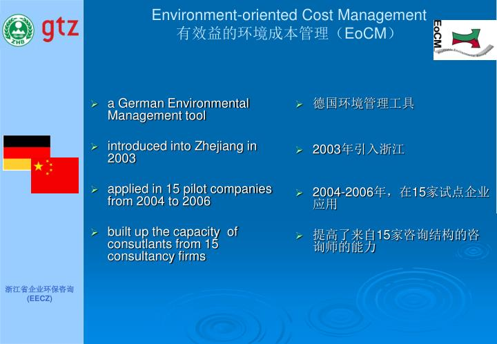 Environment-oriented Cost Management