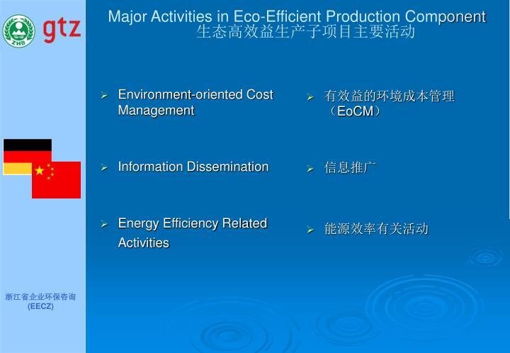 Major Activities in Eco-Efficient Production Com