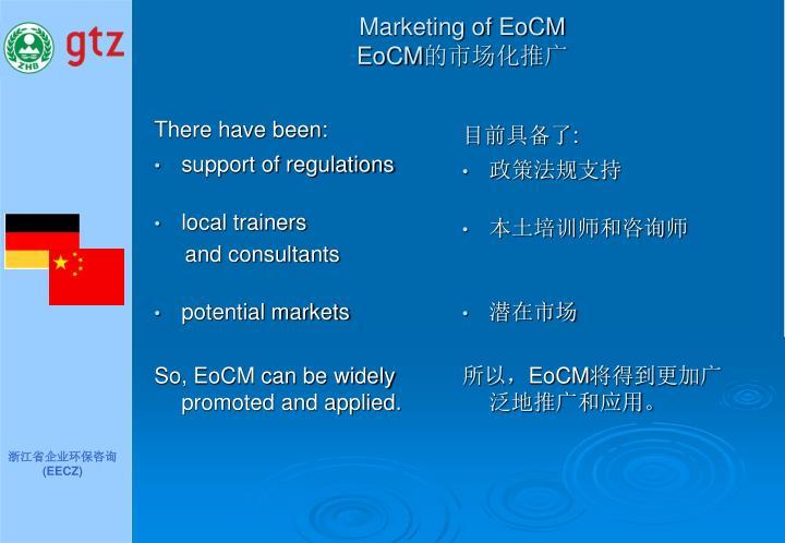 Marketing of EoCM