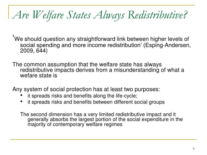 Are Welfare States Always Redistributive?