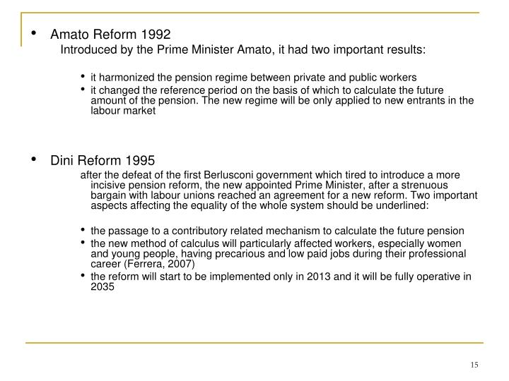 Amato Reform 1992