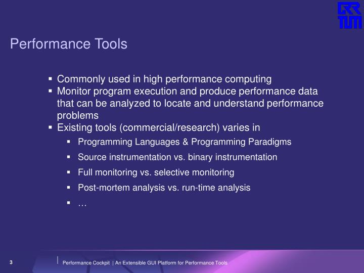 Performance tools