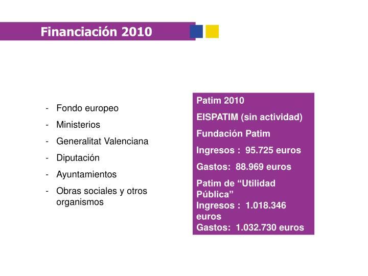 Financiación 2010