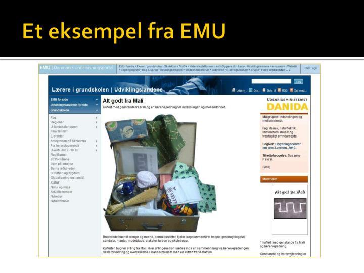 Et eksempel fra EMU