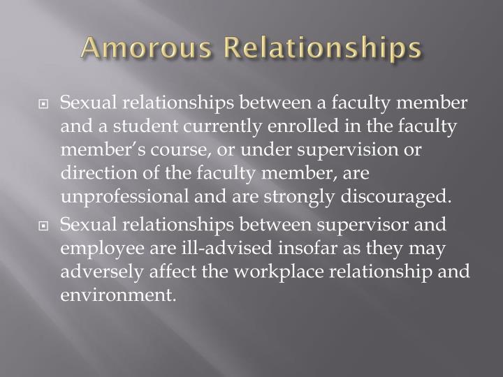 Amorous Relationships