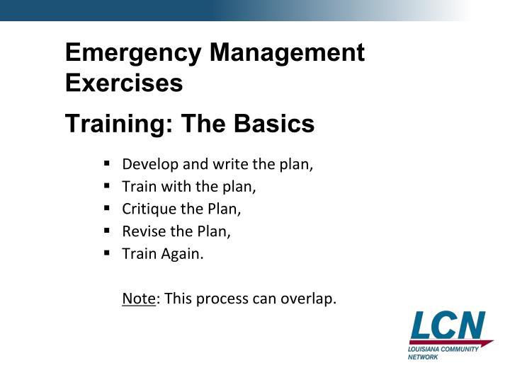Emergency Management Exercises