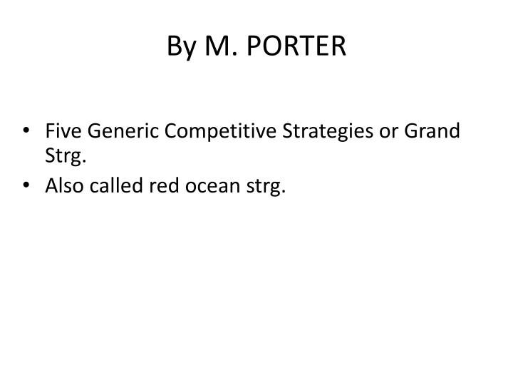 By M. PORTER