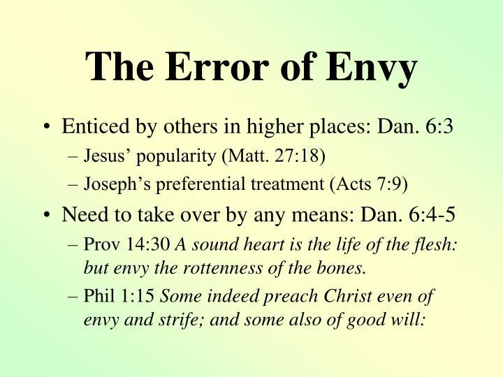 The Error of Envy