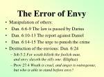 the error of envy1