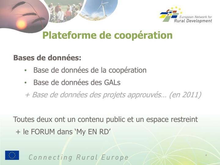 Plateforme de coopération