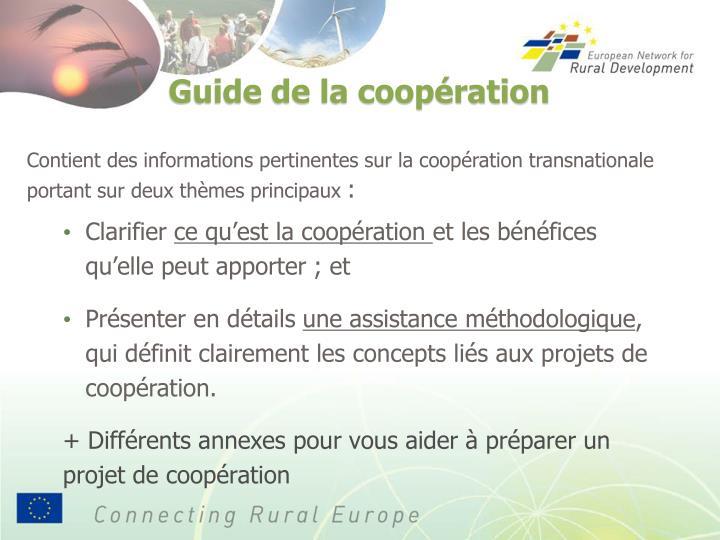 Contient des informations pertinentes sur la coopération transnationale portant sur deux thèmes principaux