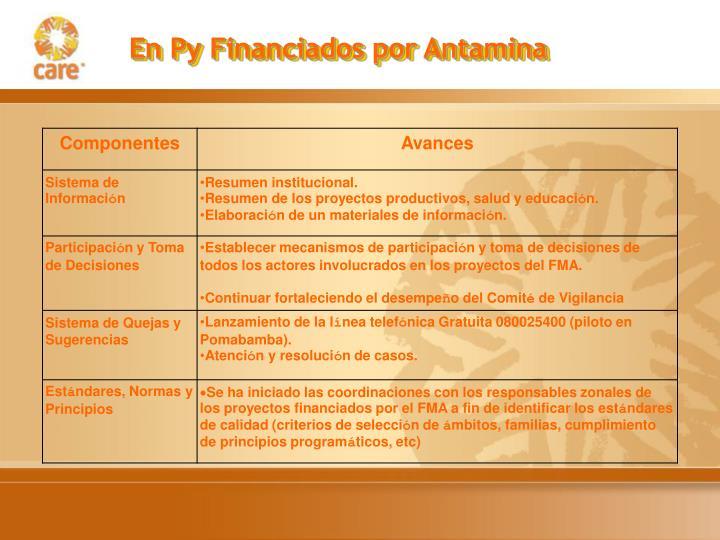 En Py Financiados por Antamina