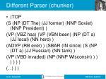 different parser chunker