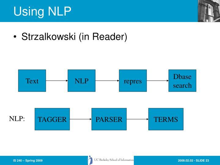 Using NLP