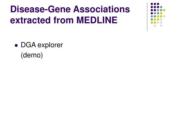 Disease-Gene Associations extracted from MEDLINE