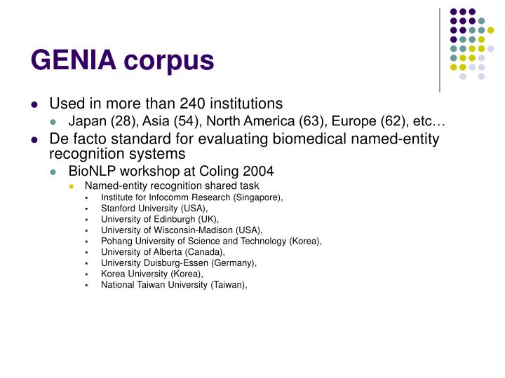 GENIA corpus