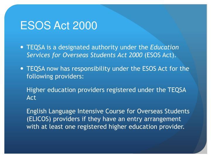 ESOS Act