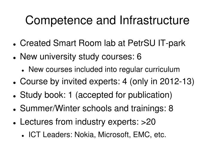 Competence and infrastructure