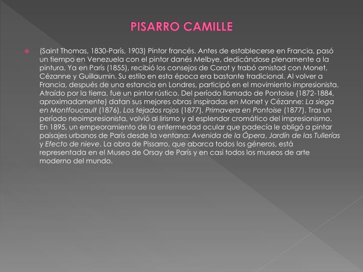 PISARRO CAMILLE