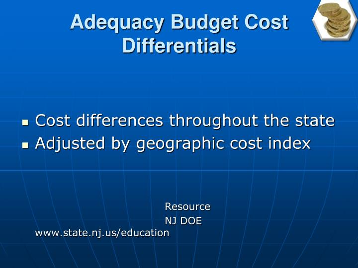 Adequacy Budget Cost Differentials