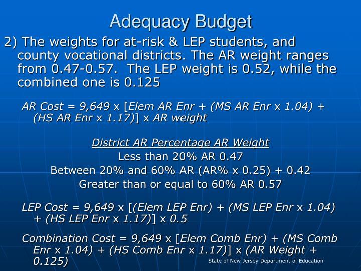 Adequacy Budget