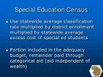 special education census