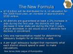 the new formula