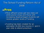 the school funding reform act of 20081