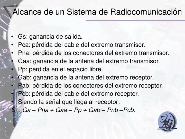 Alcance de un Sistema de Radiocomunicación