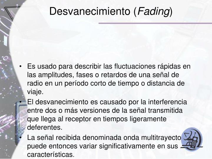 Desvanecimiento (