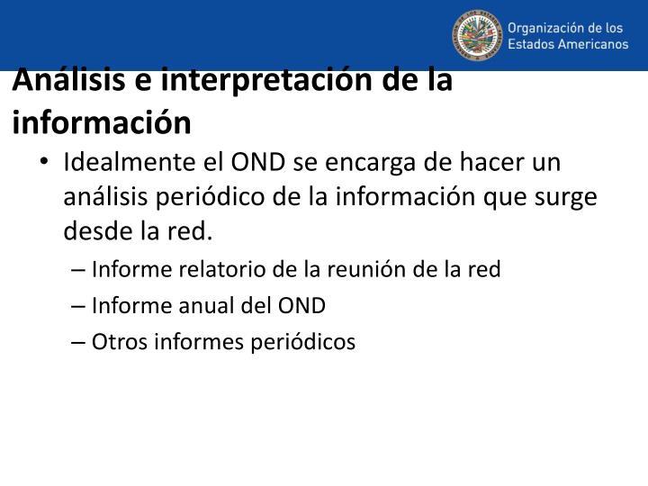 Análisis e interpretación de la información